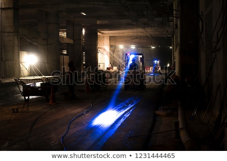 Working light of a forklift truck Stock photo © jakatics