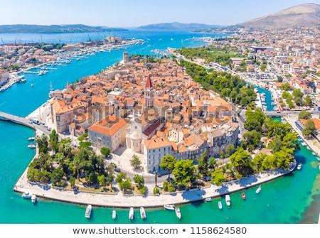 Hırvatistan sahil eski şehir plaj gökyüzü Stok fotoğraf © Alenmax