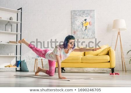 mulher · atraente · isolado · branco · mulher · menina - foto stock © acidgrey