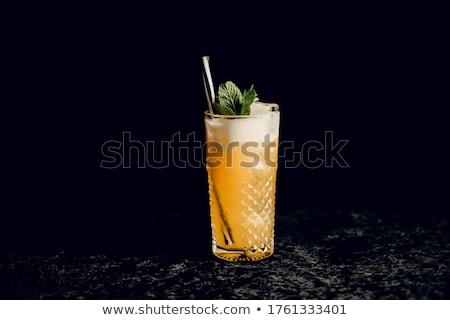 Koktél magas üveg ital piros cseresznye Stock fotó © shutswis