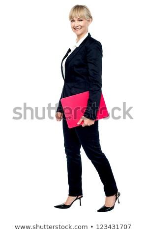 retrato · alegre · enérgico · mulher - foto stock © stockyimages
