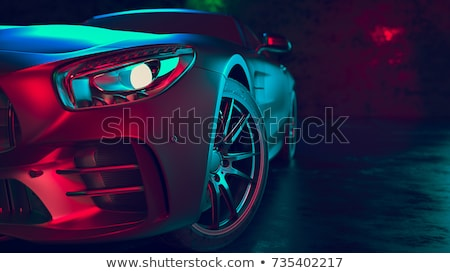 Sport voiture rouge couleur puissant course Photo stock © keofresh