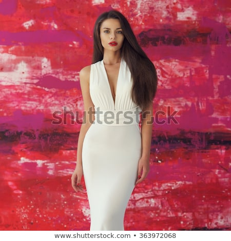 Elegáns káprázatos nő portré elegáns ruha stílusos Stock fotó © gromovataya