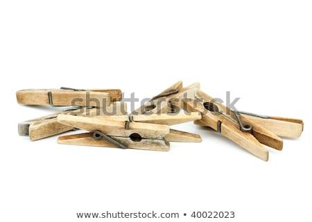 houten · witte · voorjaar · metaal · close-up · nat - stockfoto © digitalr