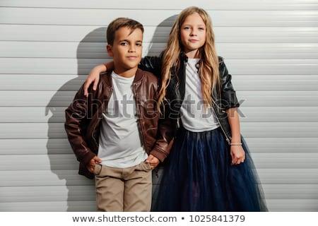 Retrato dois adolescentes menina amor casal Foto stock © photography33