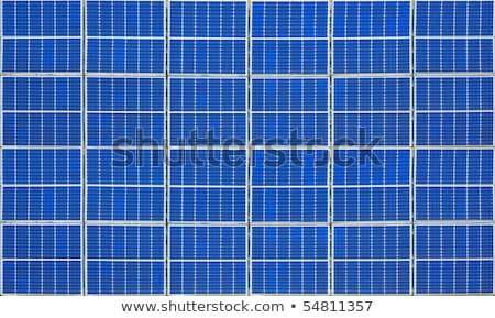 Afbeelding mooie Blauw zonnepaneel textuur licht Stockfoto © arcoss