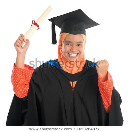 mosolyog · délkelet · ázsiai · oktatási · üzletasszony · fehér - stock fotó © szefei