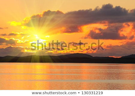 Medianoche sol pintoresco Noruega Foto stock © Harlekino