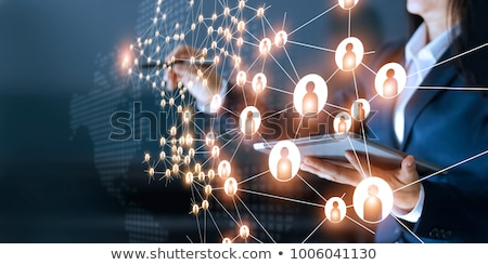 red · social · esferas · palabras · amigos · familia - foto stock © lightsource