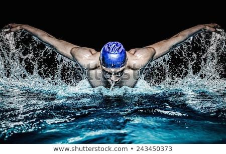 man swimming butterfly  Stock photo © photochecker