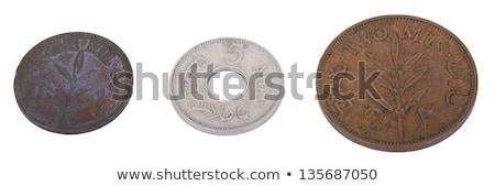 isolated palestine 5 mils coin stock photo © eldadcarin