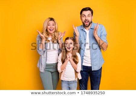Hoera vader kinderen lift vader omhoog Stockfoto © cteconsulting