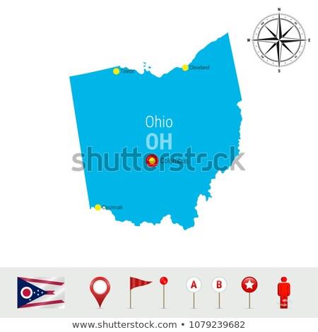 Огайо · 3D · набор · иконки · карта - Сток-фото © cteconsulting