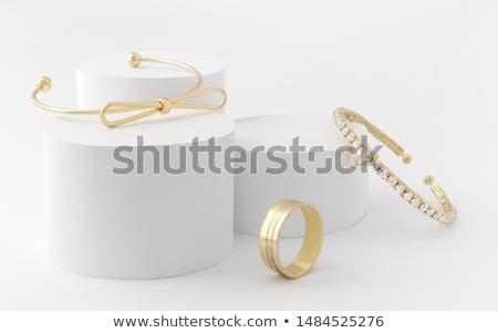 Arany báj ékszerek izolált fényes stúdiófelvétel Stock fotó © FOKA