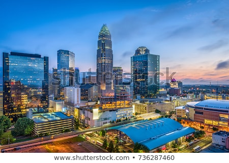 Skyline North Carolina kantoor weg stad reizen Stockfoto © alex_grichenko