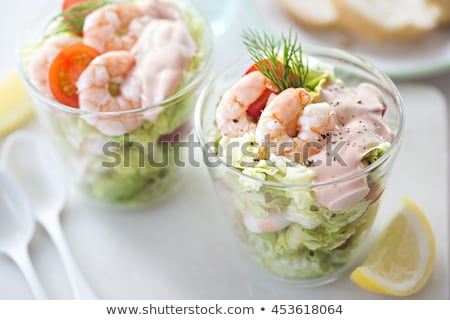 Fancy shrimp cocktail appetizer. Stock photo © DonLand