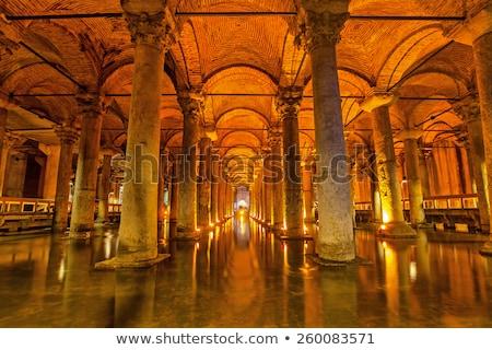 Víztartály középkori apátság építkezés belső padló Stock fotó © Hofmeester