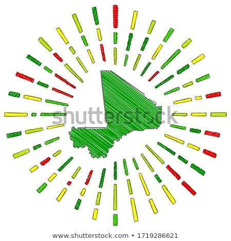 флаг Мали стороны цвета стране стиль Сток-фото © claudiodivizia