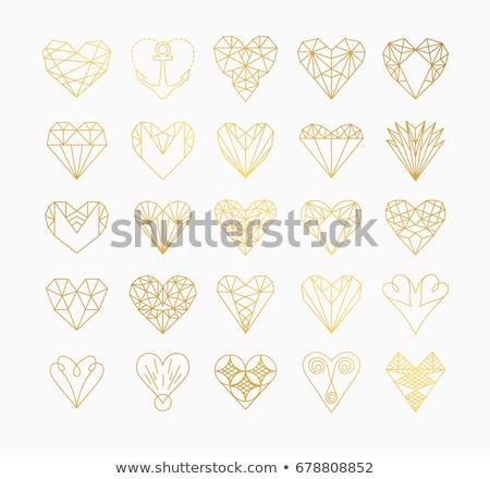 diamante · corações · amor · ilustração · vetor · arquivo - foto stock © carodi