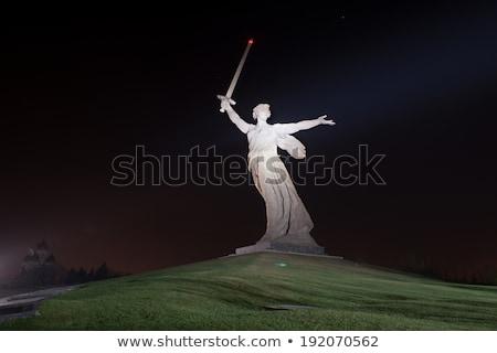Rússia 2013 monumental enorme estátua céu Foto stock © AndreyKr