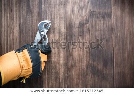 Artesão ajustável chave inglesa construção trabalhar Foto stock © photography33