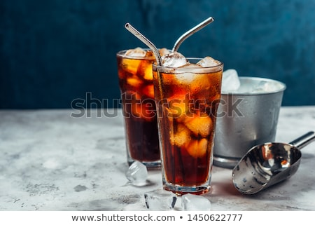 ストックフォト: ボトル · おいしい · ドリンク · 氷 · 光 · 金