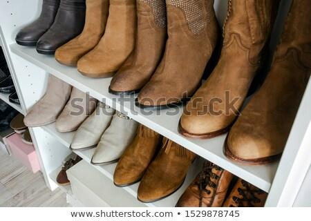 rack · sandales · design · cadeau · magasin - photo stock © ivonnewierink
