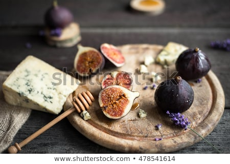 cheese with fresh fig stock photo © m-studio