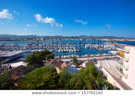 Ibiza san Antonio Abad de Portmany beach in Balearic Stock photo © lunamarina
