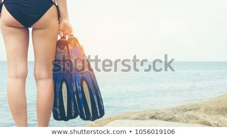 Woman with fins Stock photo © iko
