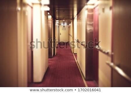 statek · wycieczkowy · horyzoncie · wygaśnięcia · mętny · burzliwy · wieczór - zdjęcia stock © chrisdorney