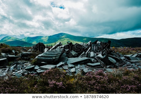 heap of geology material over mountain Stock photo © mycola