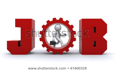 3d man running up inside gear business development concept stock photo © kirill_m