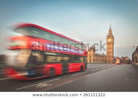 Londen sightseeing verdubbelen blootstelling Big Ben bus Stockfoto © ifeelstock