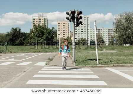 Look left on Pedestrian crossing Stock photo © stevanovicigor