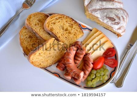 tasty sausages frankfurter with grain bread  Stock photo © juniart