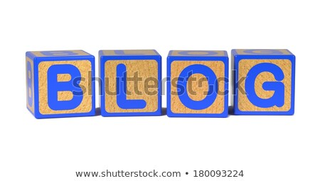 Blog - Colored Childrens Alphabet Blocks. Stock photo © tashatuvango