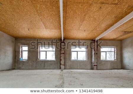Furnérlemez fal öreg durva tábla barna Stock fotó © scenery1