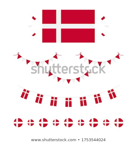 danish flag icon stock photo © zeffss