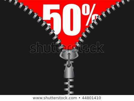 Stock photo: Zipper revealing a discount for sale purposes