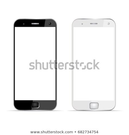 establecer · móviles · electrónico · azul - foto stock © alexmillos