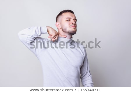Mad man cuts his throat Stock photo © Nejron