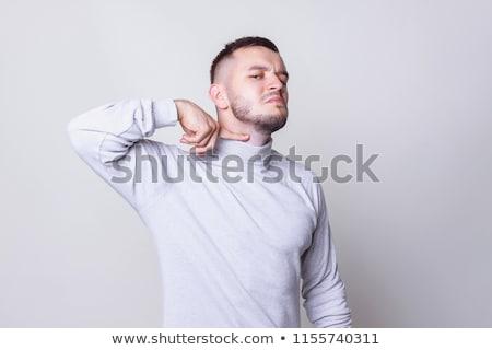 Mad man cuts his throat Stock photo © Nejron