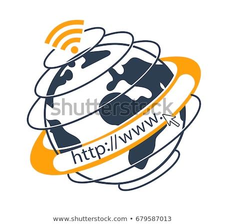 Connecter world wide web mains ordinateur technologie web Photo stock © OleksandrO