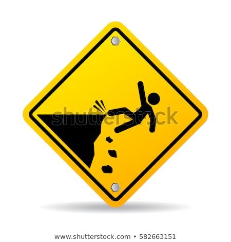 注意 · エッジ · にログイン · 黒 · 下がり - ストックフォト © silkenphotography