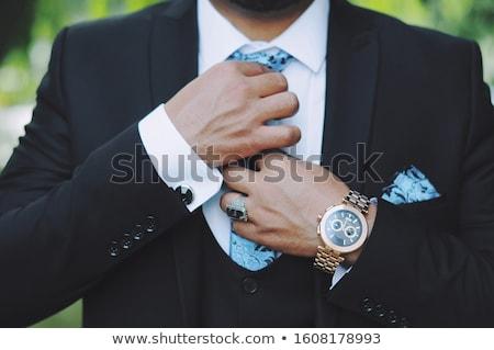 Ouro preto couro cinta branco Foto stock © shivanetua