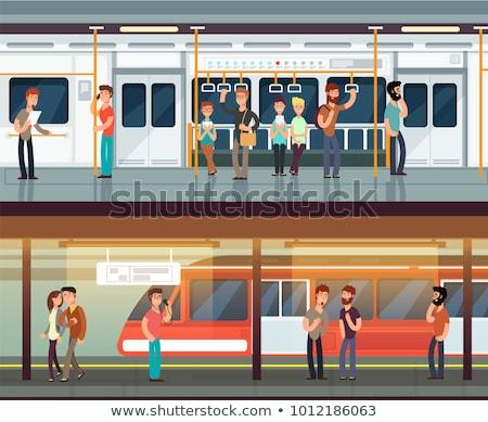 Personas metro estación rápido movimiento estación de ferrocarril Foto stock © stevanovicigor