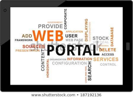 Szófelhő háló porta vállalati információ stock Stock fotó © master_art