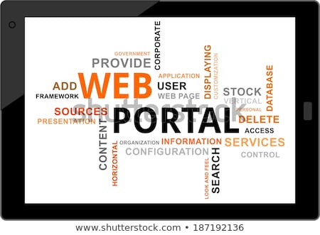 слово · облако · веб · портал · корпоративного · информации · складе - Сток-фото © master_art