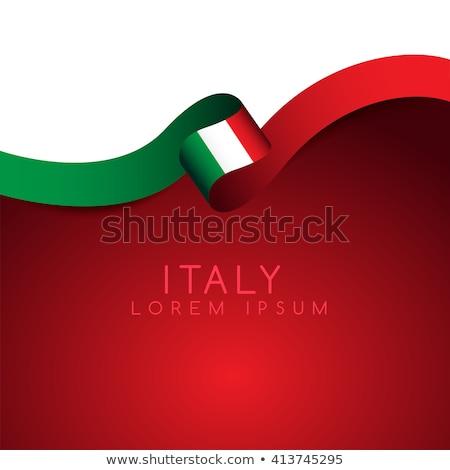 Olaszország zászló ikonok ötlet terv üzlet Stock fotó © kiddaikiddee